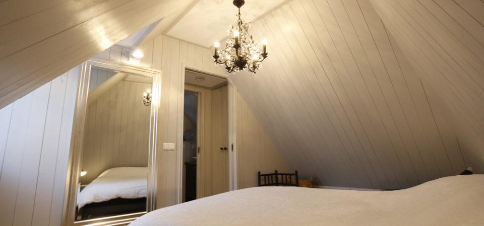 Slaapkamer vakantiehuis Wetterhuske